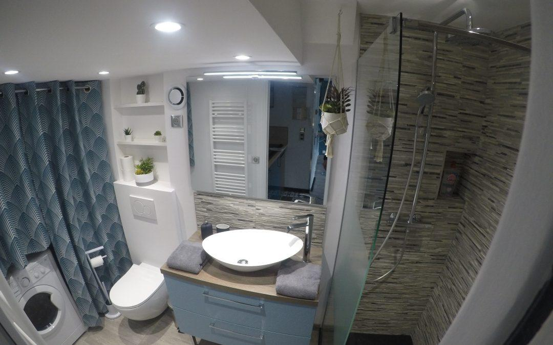 Renovation de salle de douche à Moreuil