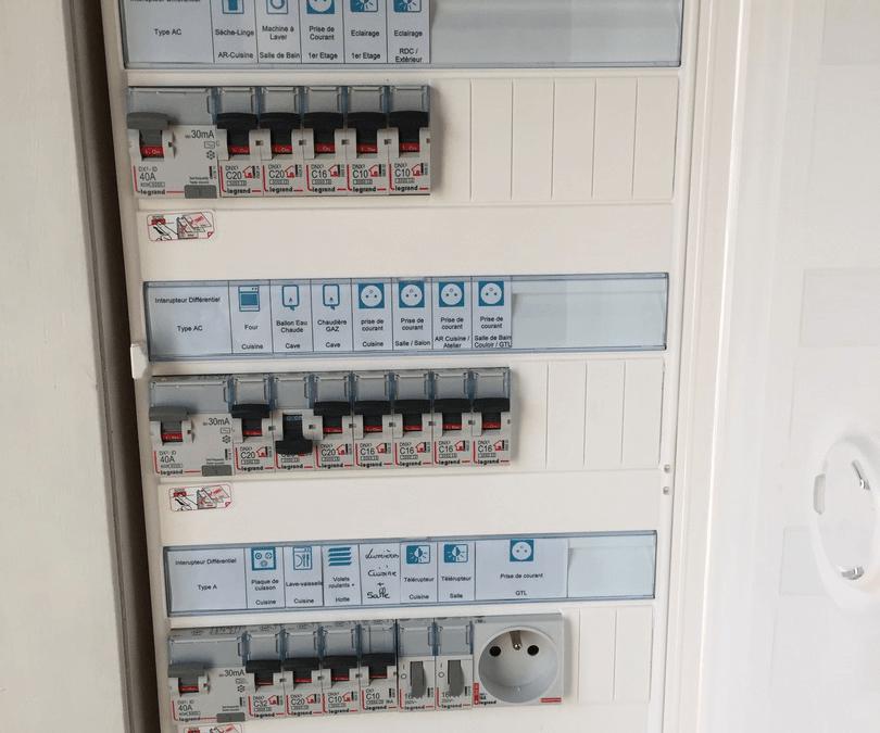 Rénovation électrique complète d'une maison sous moulure en saillie à Ailly sur Noye 80250